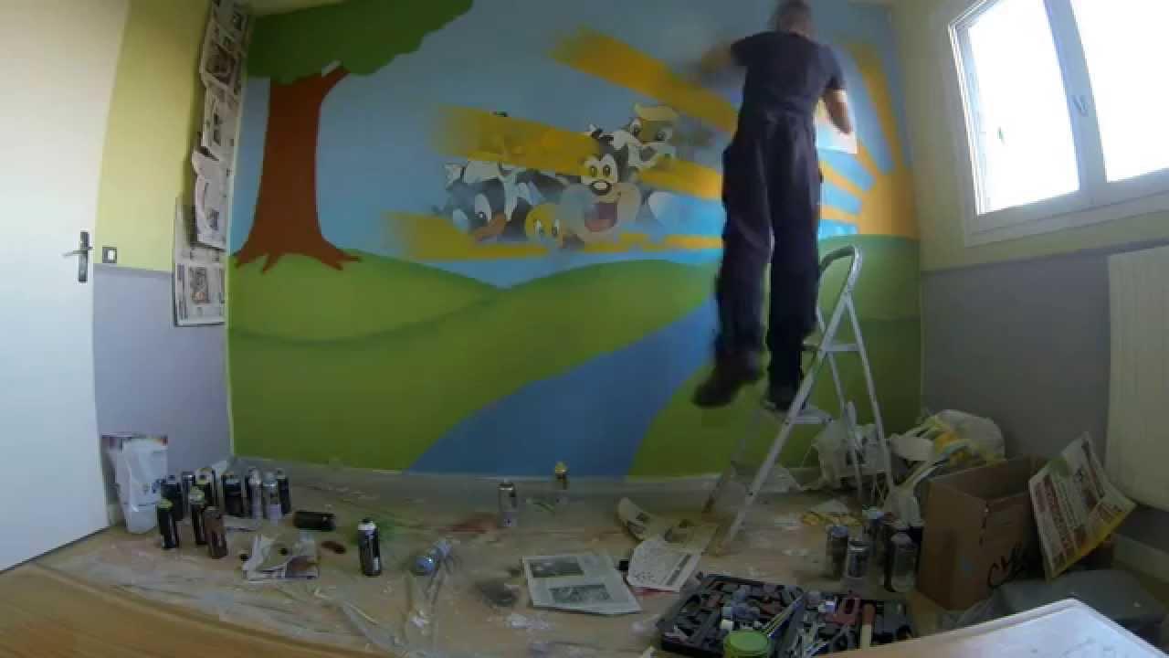 Salon Moderne Sur Alger : Déco chambre bébé  Time lapse painting (Gopro Hero3 black