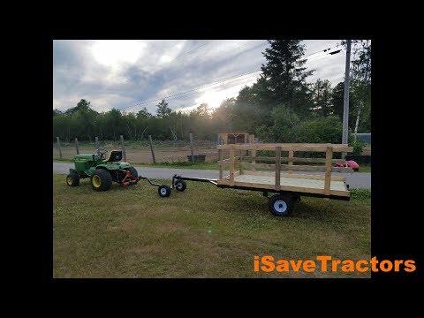 Garden Tractor Hay Wagon Cart Trailer Build