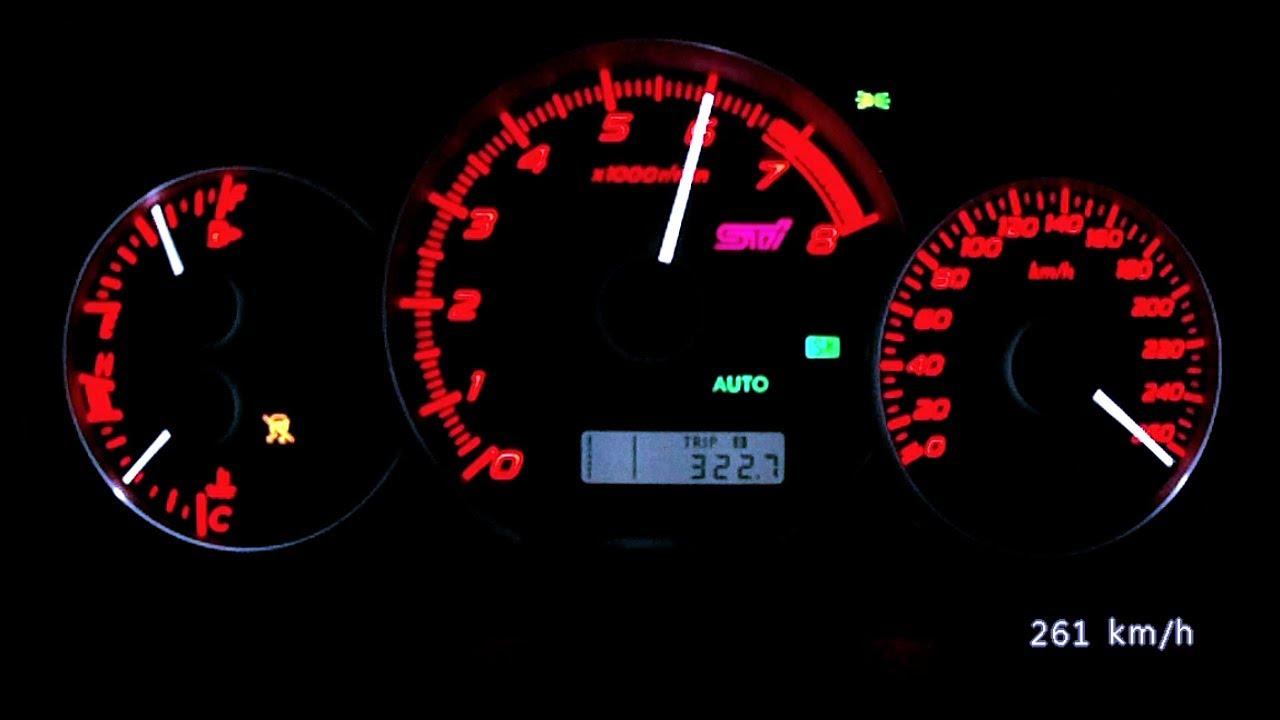 Subaru WRX STI Type RA 2013 - acceleration 0-244 km/h, top speed ...
