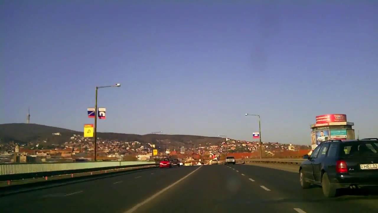 Érkezés Pécsre / Driving into Pécs, south-west Hungary