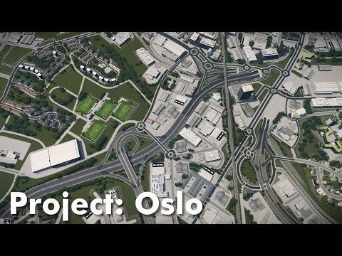 Cities: Skylines: Project Oslo (Part 4) - Industry & Highway Intersections