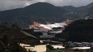 Müll und Zerstörung in Naturparadies in Malaysia