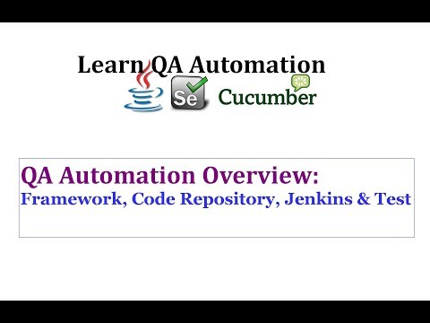Overview: Framework, Code Repository, Jenkins & Tests