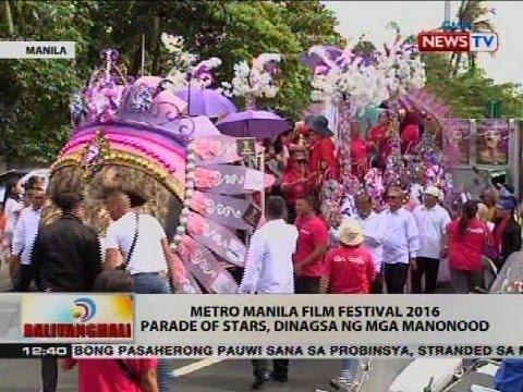 Metro Manila Film Festival 2016, Parade of Stars, dinagsa ng mga manonood