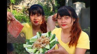 Cooking skills | Yummy cooking Crispy pork skin recipe - Crispy Pork Skin | survival skills. HT