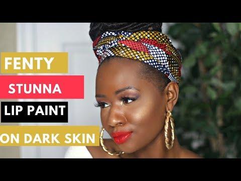 Fenty Beauty Stunna Review + Swatches on Dark Skin