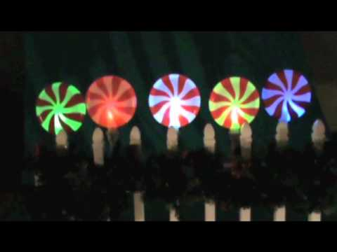 Peppermint Christmas Pathway Lights - YouTube
