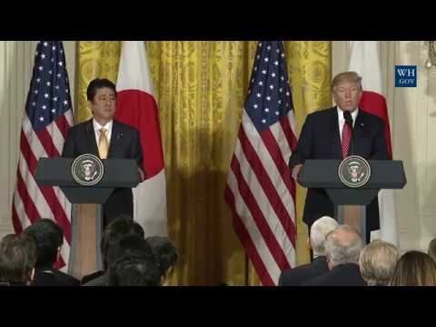 President Trump and Prime Minister Shinzō Abe
