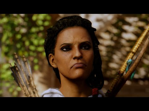 Assassin S Creed Origins Aya Making Weird Faces Youtube