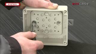 DK-Wandbefestigung über montierte Außenlasche / DK-Wall fixing via mounted external brackets