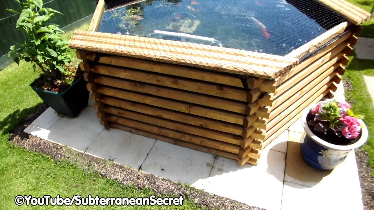 Raised Wooden Norlog 400 Gallon Garden Fishpond Youtube