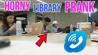 IM SO HORNY PRANK IN LIBRARY!