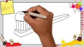 Zahnbürste zeichnen für anfänger & kinder - Zeichnen lernen