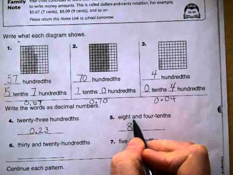 4th Grade Home Links Grade 4 Answers