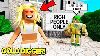 I Became a GOLD DIGGER And Pretended To Be RICH in Roblox!