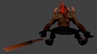 как сделать маску крипа тёмных сил из Dota 2