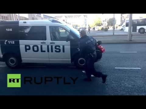 Finland: Activists arrested for trying to block anti-refugee march in Helsinki