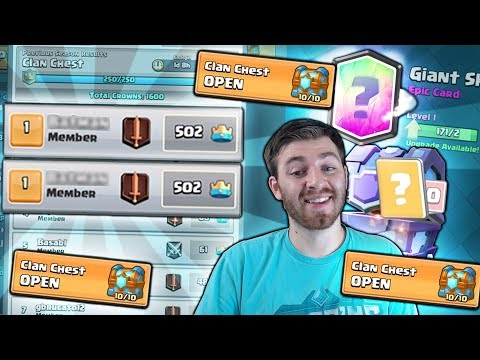 Thumbnail: INSANE!! 500 CROWNS & FRUSTRATING x3 MAX CLAN CHEST OPENING?! | Clash Royale | LEGENDARY PULL PLZ!