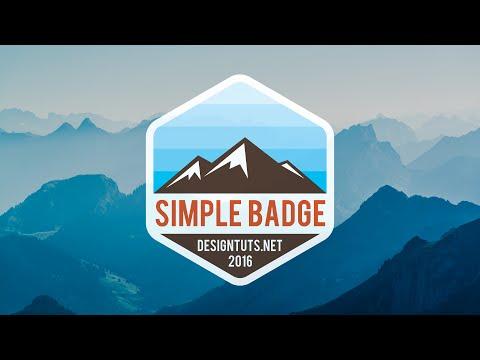 Adobe Illustrator Tutorial:  How To Design Simple Badge/Emblem Style Logo