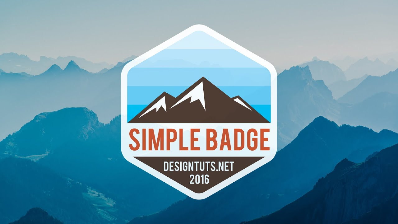 Adobe Illustrator Tutorial: How to design Simple Badge ...