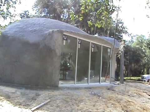 Weather tight concrete dome.  Once windows & doors are installed to the concrete shell.
