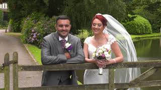 Sian and Wayne at the Moat House, Acton Trussell