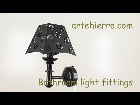 Bathroom light fittings blacksmith for decoration