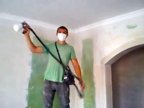 Как хорошо покрасить потолок при помощи пульверизатора