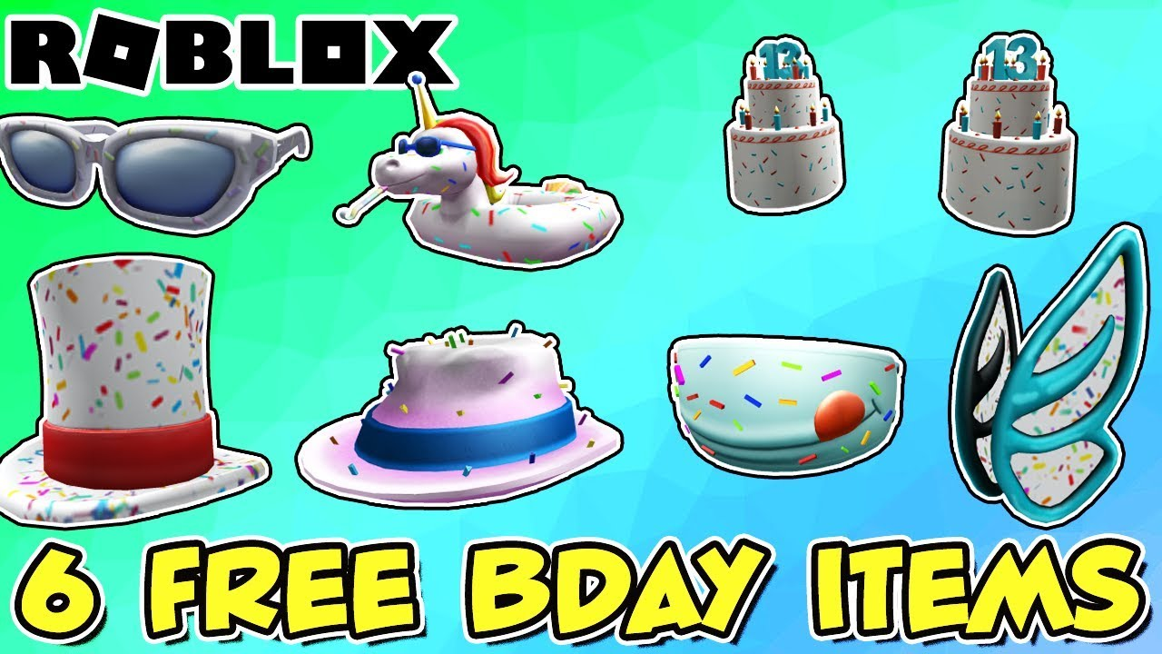 6 FREE ITEMS AND CONTEST Roblox 13th Birthday Celebration Event