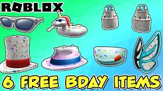 6 FREE ITEMS AND CONTEST - Roblox 13th Birthday Celebration Event Is Here!