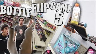 Ultimate Game of Bottle FLIP in Walmart! | Round 5