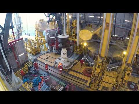 Drillship Running Risers & Diverter