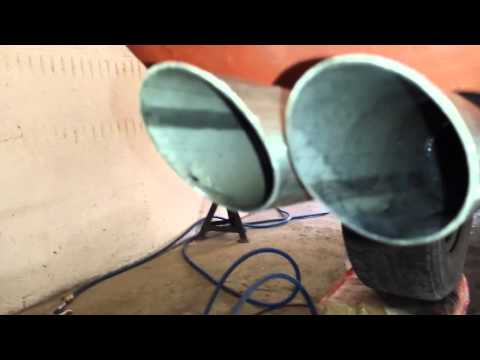 Ford TAUNUS 2.3 V6 exhaust sound home made czech
