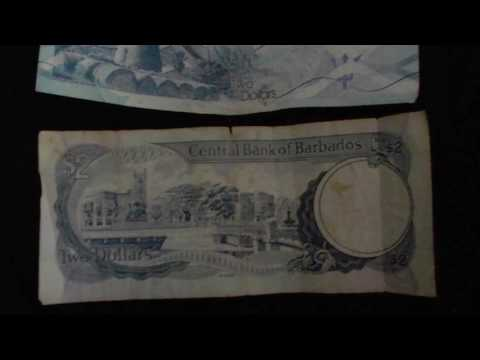 Old Vs. New Barbadian $2 Bills - Bus Fare in Barbados