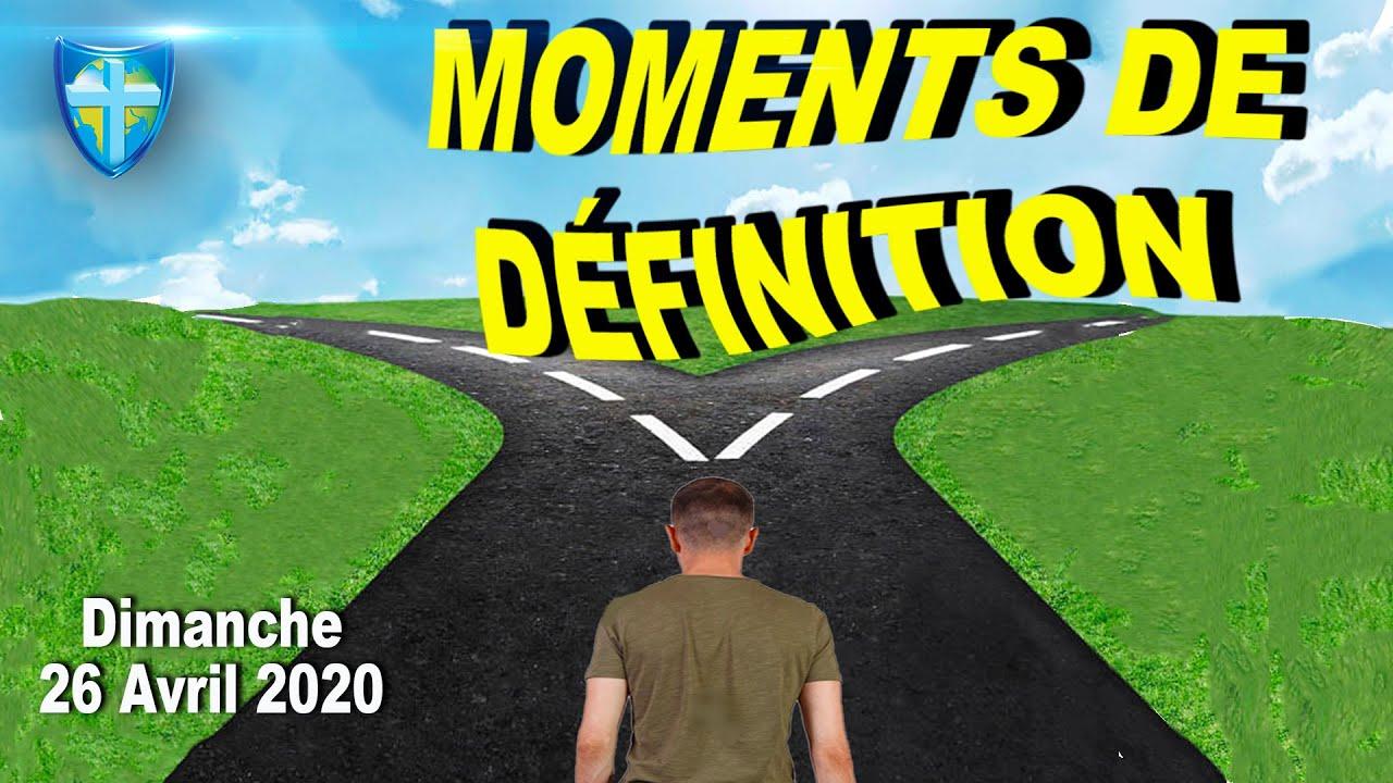CULTE DIMANCHE 26 AVRIL 2020