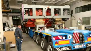 SAIP carrying press for moulds an exceptional transport for an exceptional product