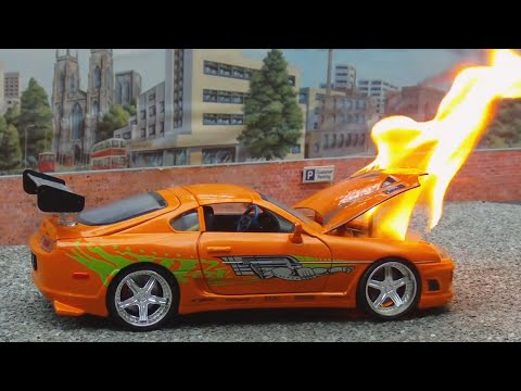 Model Cars On Fire Compilation || 250K Subscribers Special