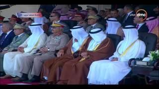 محمد بن زايد يشهد افتتاح قاعدة محمد نجيب العسكرية بمصر