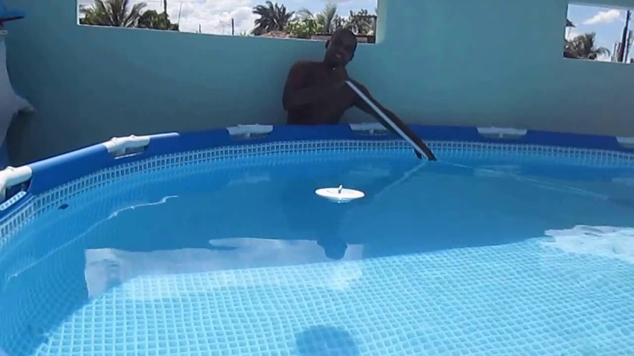 limpeza piscina intex 16 805l 03 v deo youtube