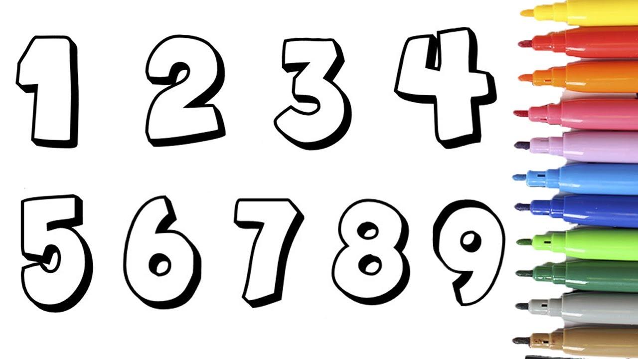 Los Números Aprende Los Números De 0 A 10 Colorear Con
