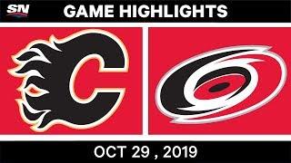 NHL Highlights   Flames vs. Hurricanes – Oct. 29, 2019