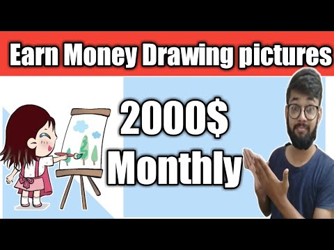 Make Money Online in 2020 Drawing Simple Pictures Unique method in Hindi