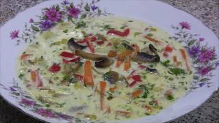 Рецепт овощного супа с плавлеными сырками