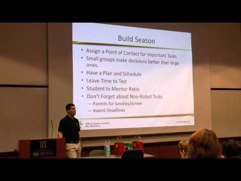 131123 FIRST Robotics Team Structure and Organization