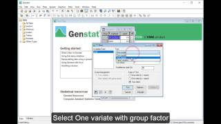 t-test in Genstat 18th edition