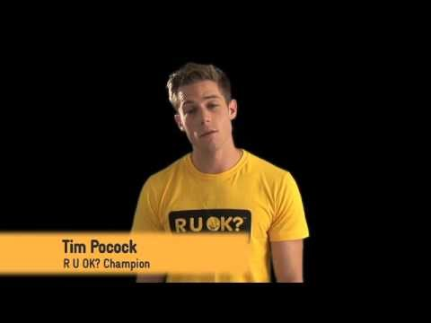 Actor Tim Pocock urges students to get involved with R U OK? at School