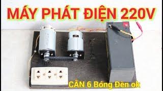 Chế Máy Phát Điện 220v Mini Từ Motor 775