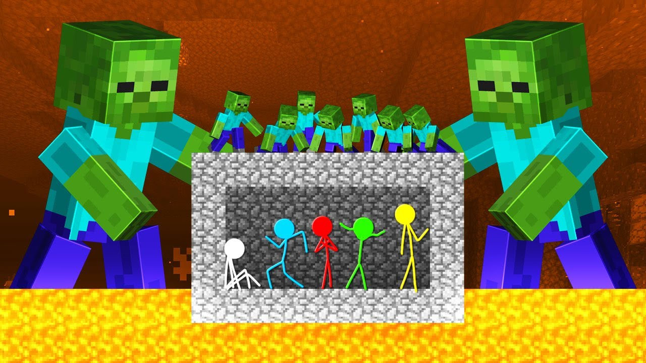 Stickman VS Minecraft: Mutant Zombie Apocalypse - AVM Shorts Animation
