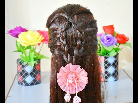 Simple hairstyle for outgoing||braided hairstyle thumbnail