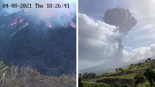 video: Watch: Saint Vincent volcano eruption blankets Caribbean island with ash